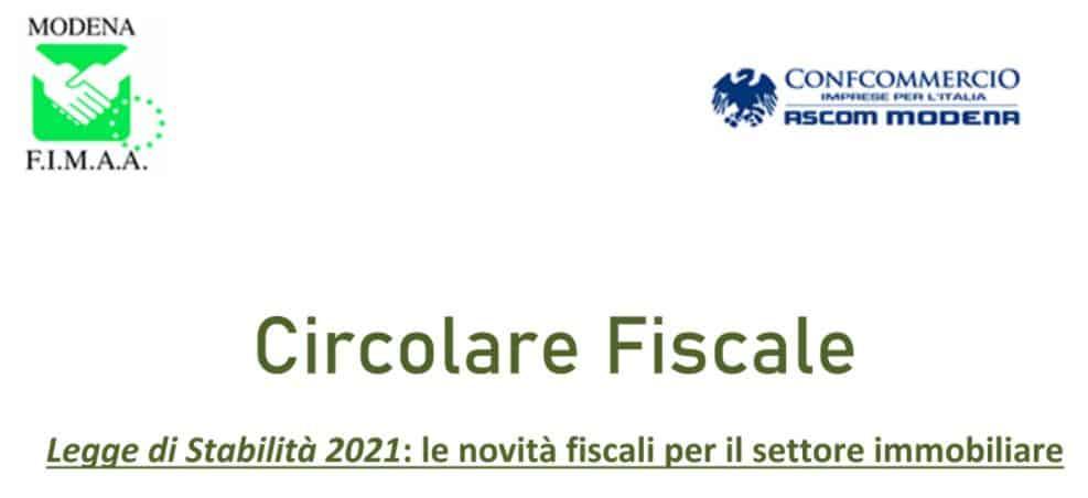 Legge di Stabilità 2021: le novità fiscali per il settore immobiliare